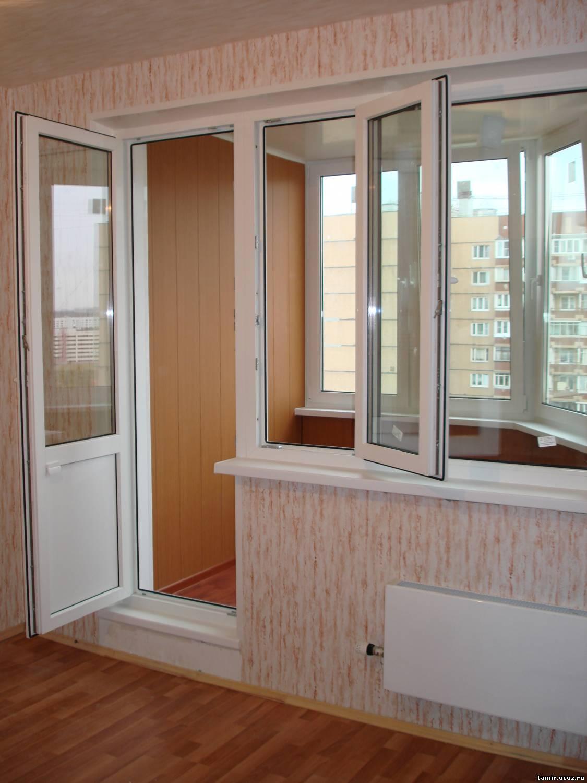 Балконный блок из профиля кве 58 мм (германия) все открывает.